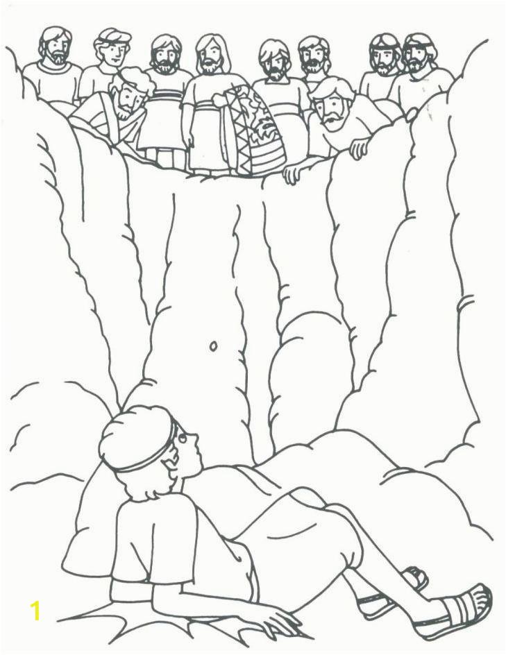 joseph dream coloring page