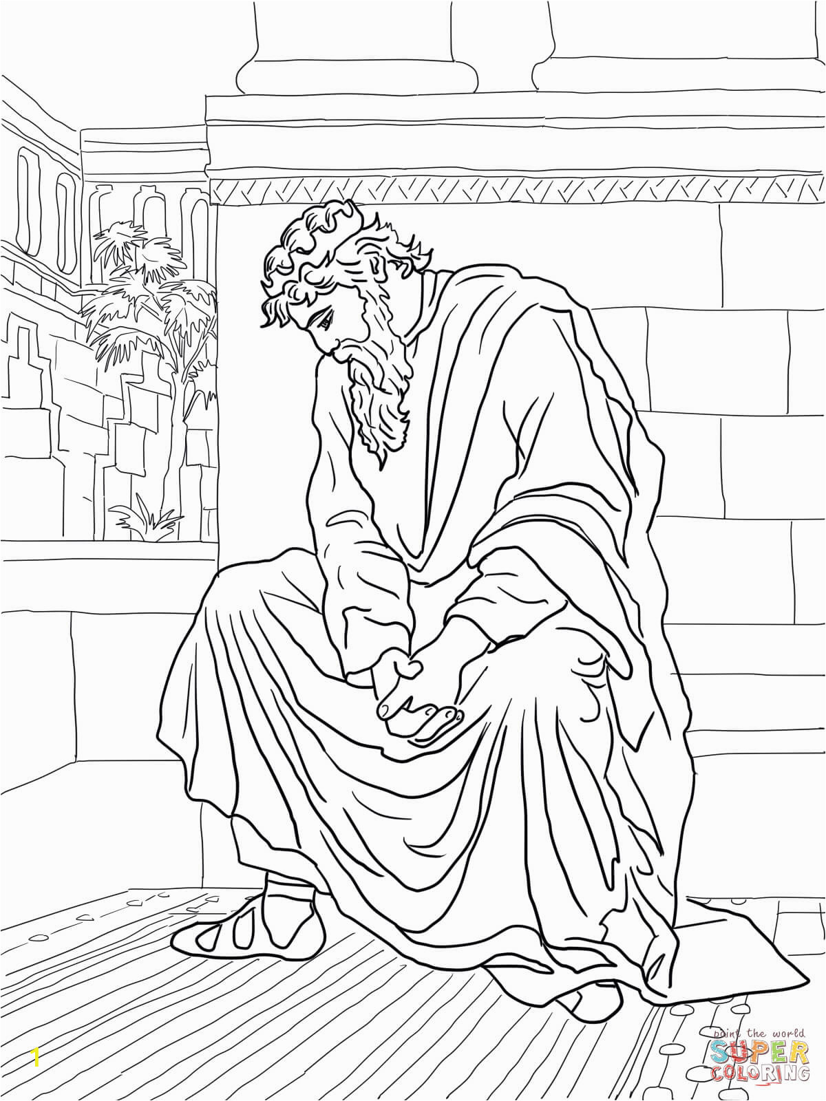 absalom coloring pages