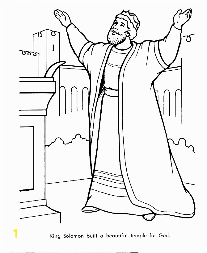 david and absalom coloring page