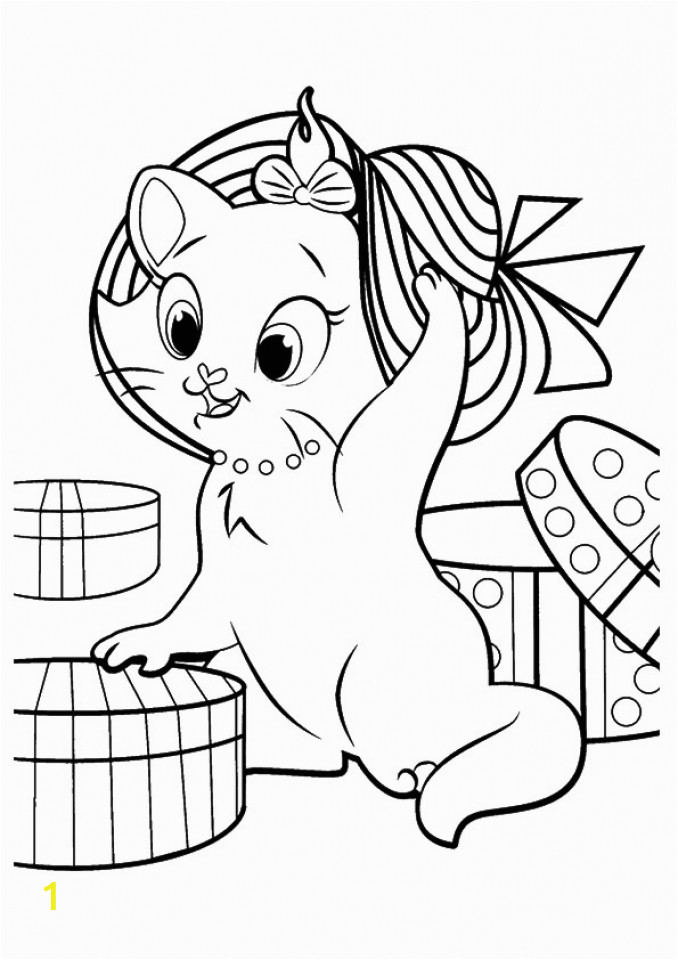 kitten coloring pages printable for kids