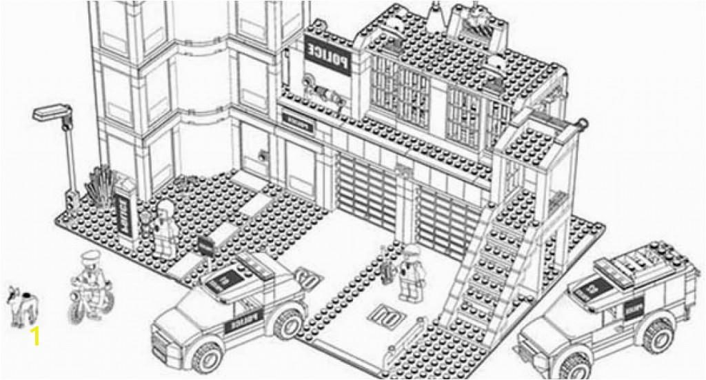 lego police station sketch templates
