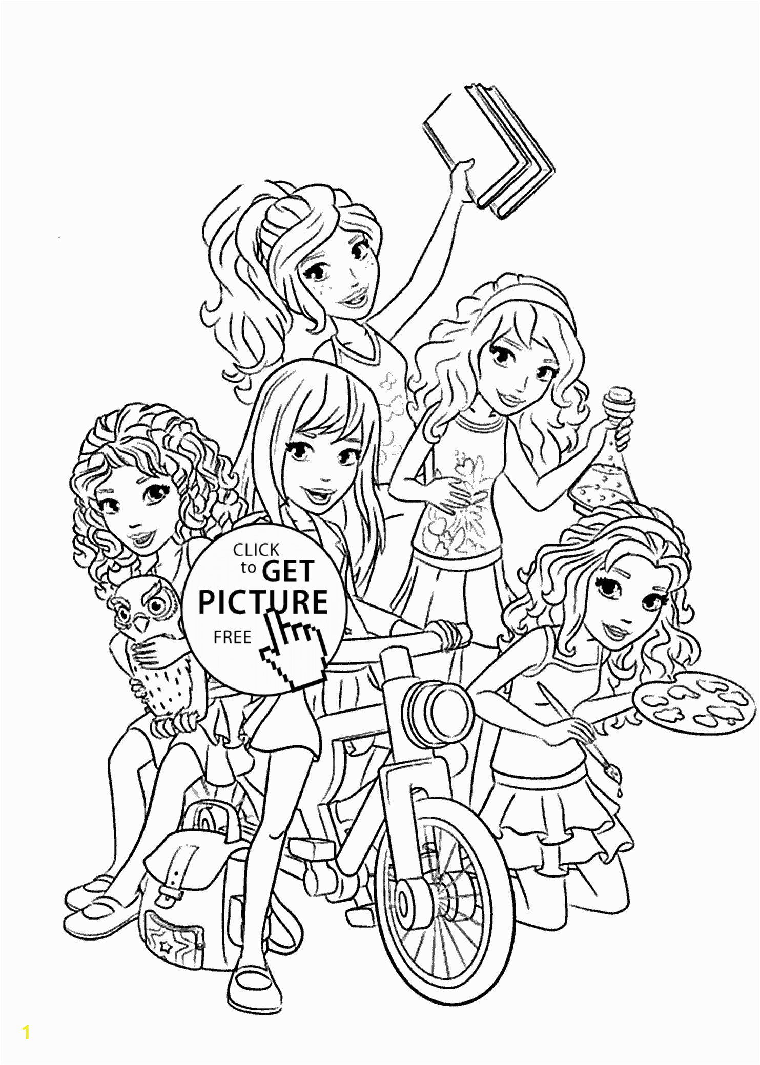 lego friends all coloring page for kids printable free lego friends