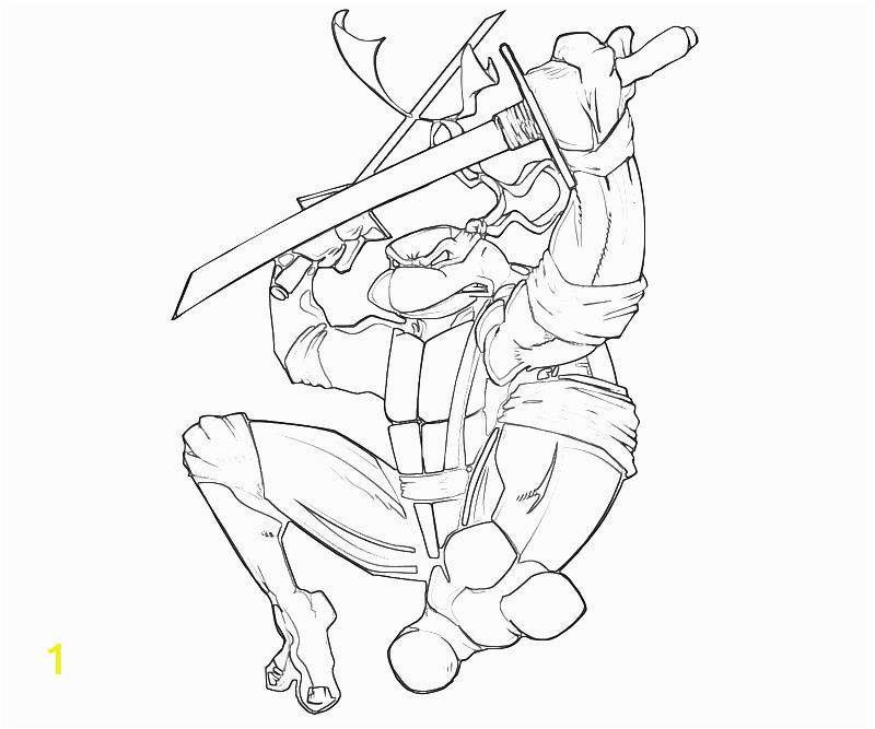 teenage mutant ninja turtles leonardo coloring pages for kids printable