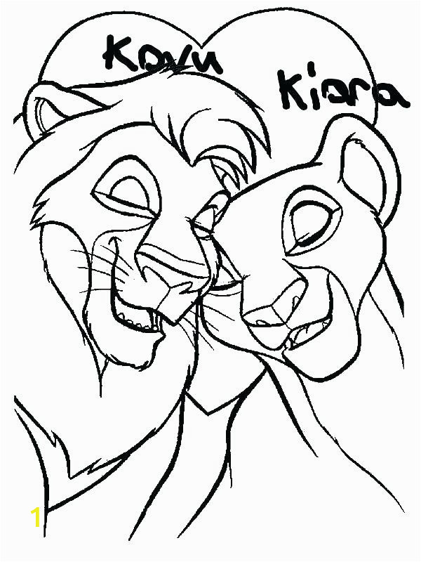 simba and nala coloring pages