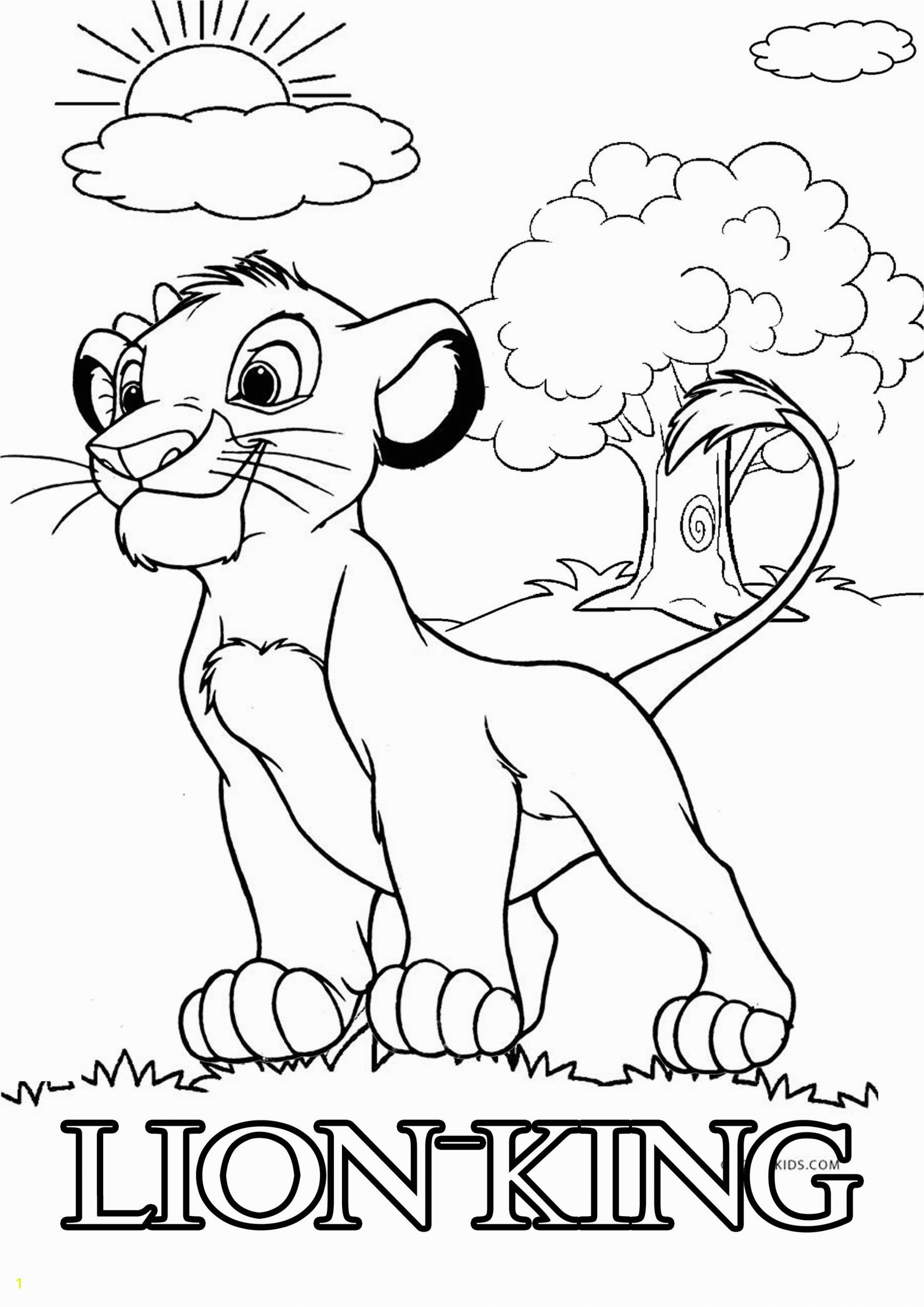 Lion King Free Printable Coloring Pages Simba Lion King Coloring Pages Free In 2020
