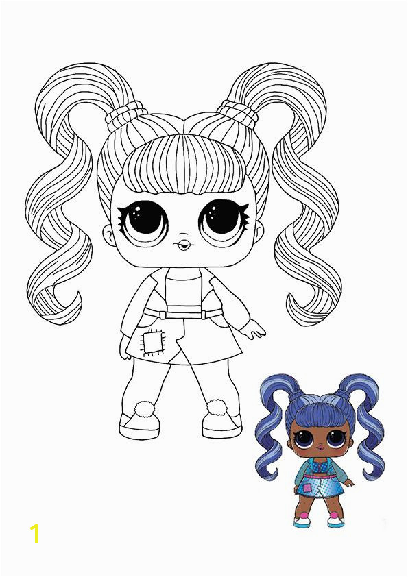 hair goals kleurplaat baby