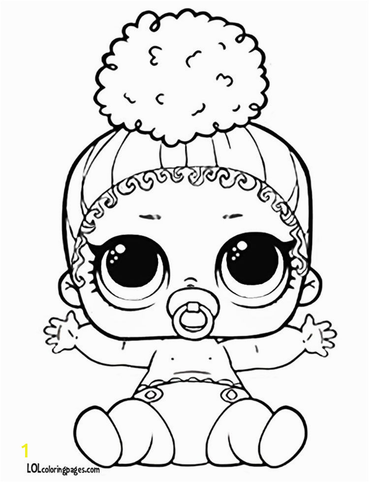 Lol Doll Little Sister Coloring Pages Coloringpages Lil touchdown Doll Coloring Page
