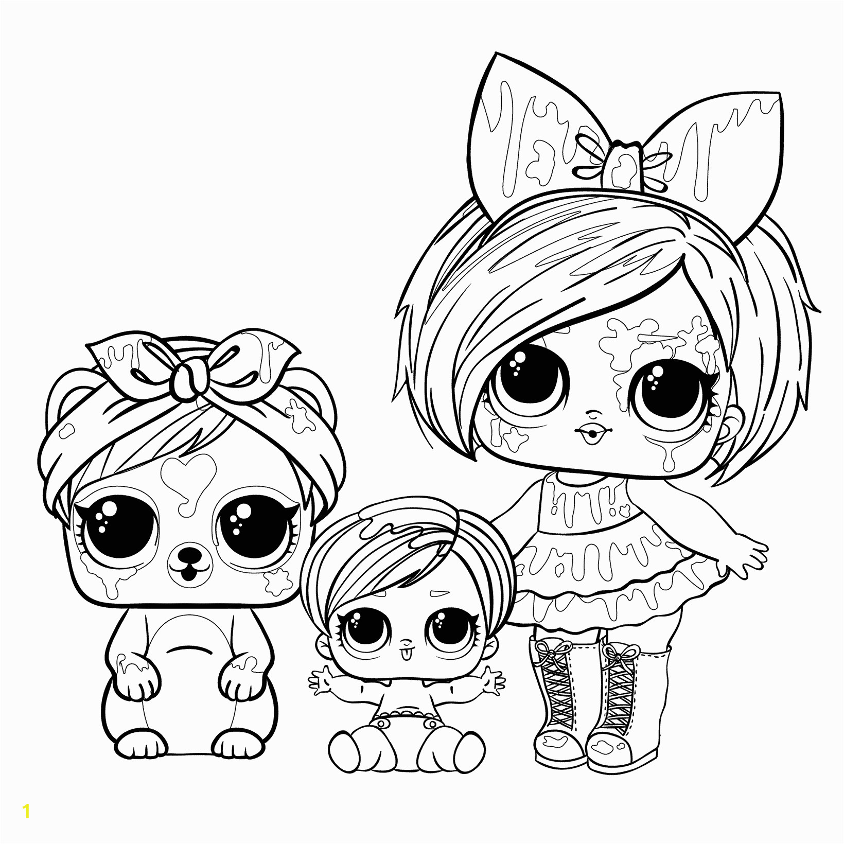 doll blot with a pet and sister