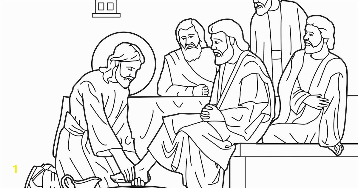 jesus washes his disciples feet