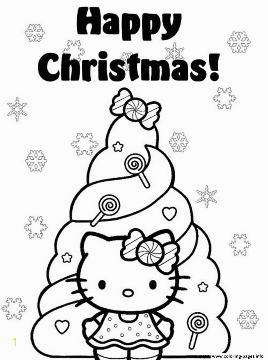 happy christmas hello kitty s christmas tree0e4e printable coloring pages book 6624