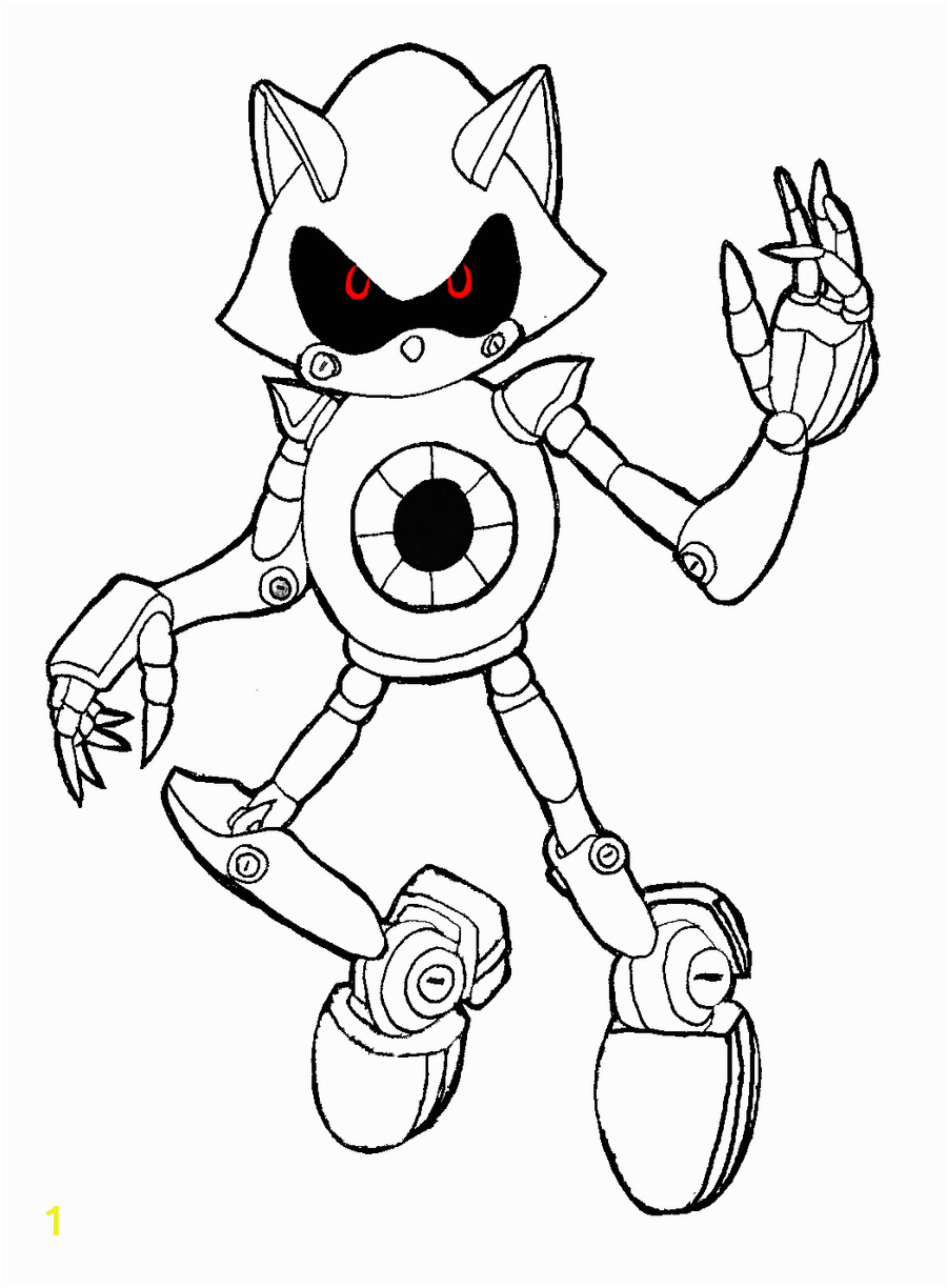 Metal sonic Coloring Pages to Print Metal sonic Lineart by 630leosa On Deviantart