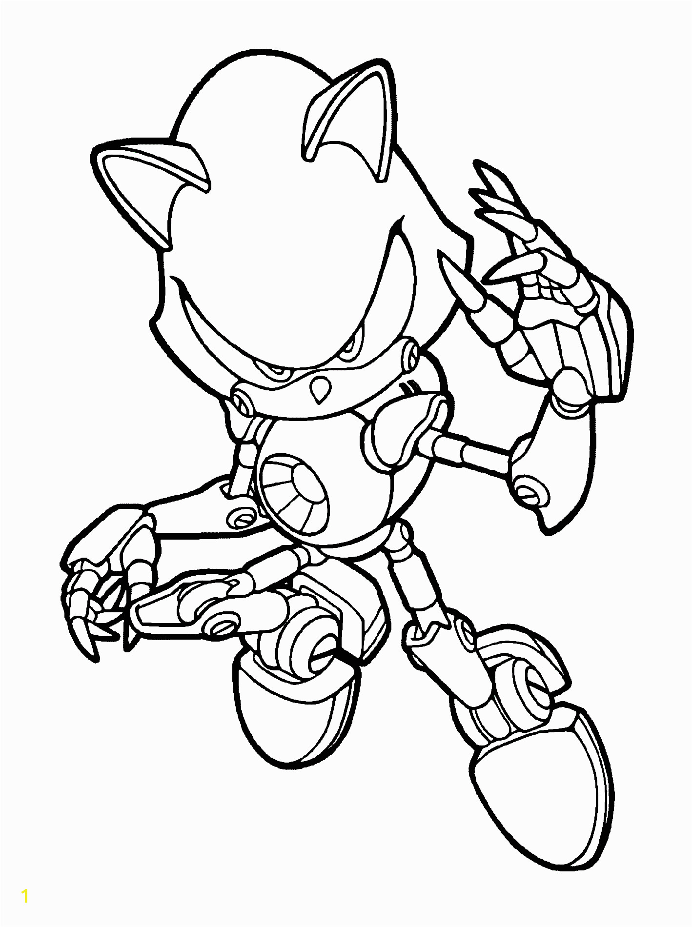 Metal sonic Coloring Pages to Print sonic Coloring Pages for Boys
