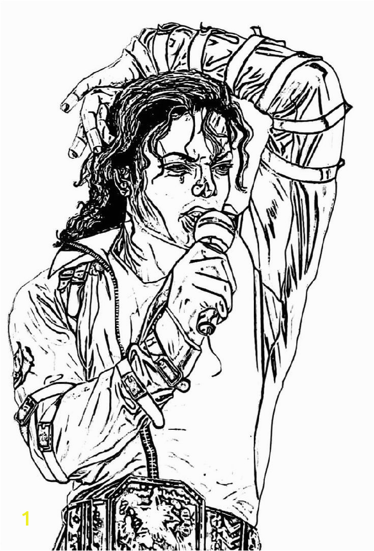 Michael Jackson Coloring Pages for Kids Michael Jackson Coloring Pages Med Bilder