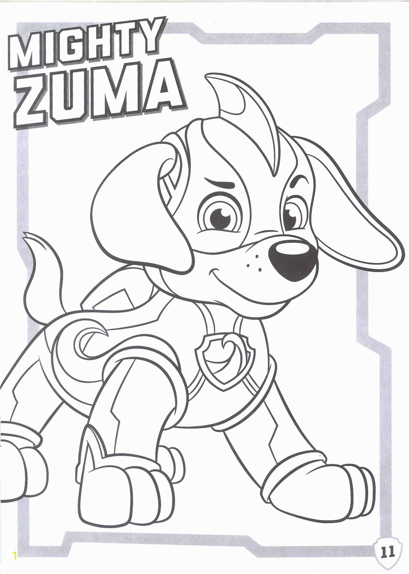 ws nickelodeon paw patrol mighty pups coloring book