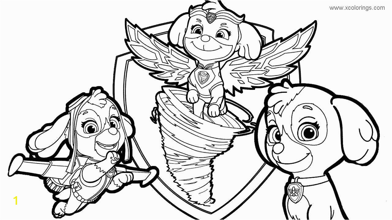 paw patrol mighty pups coloring pages