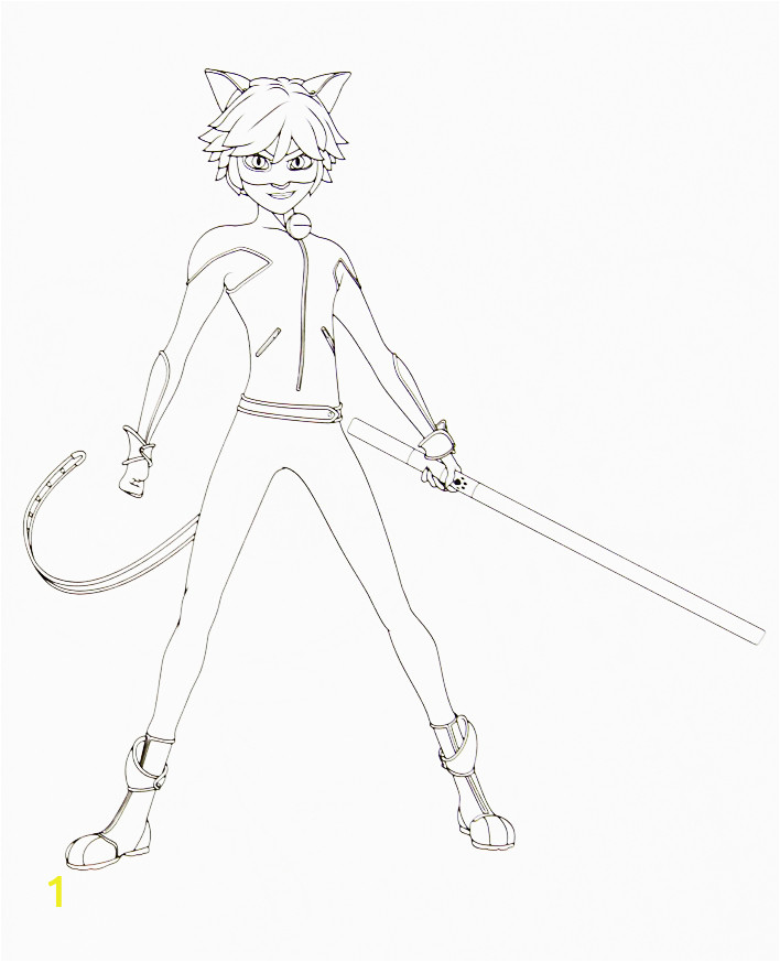 ladybug and cat noir coloring pages pictures