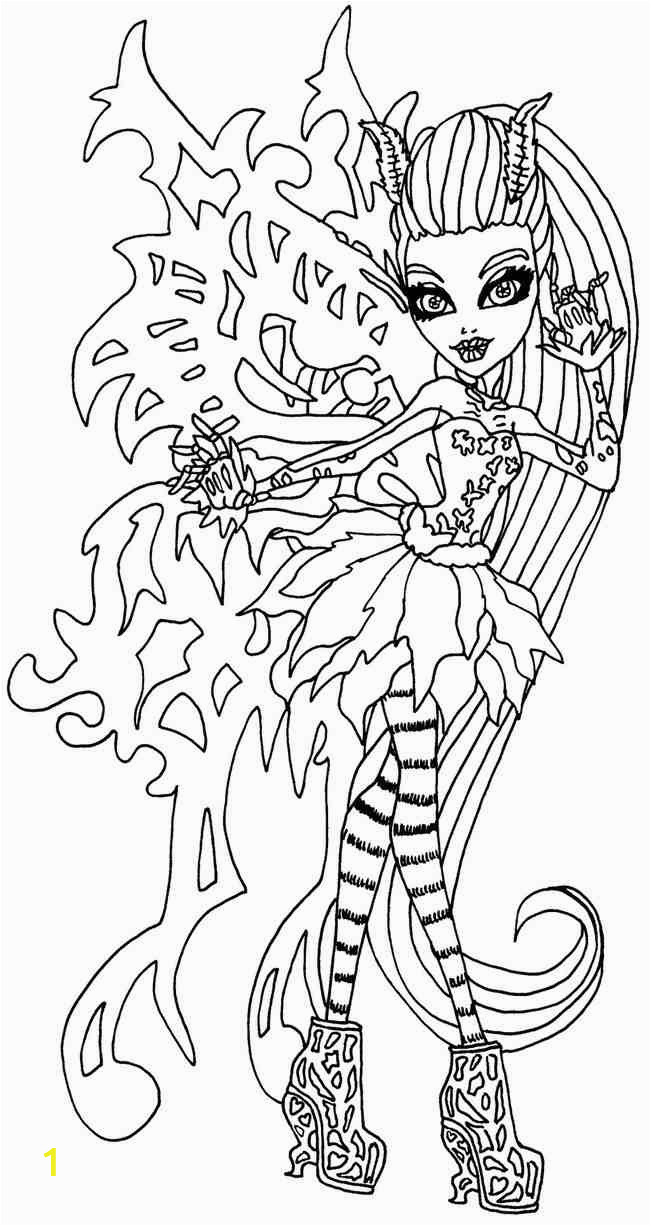 monster high coloring pages freaky fusion