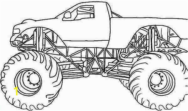 monster mutt rottweiler monster truck coloring page 2