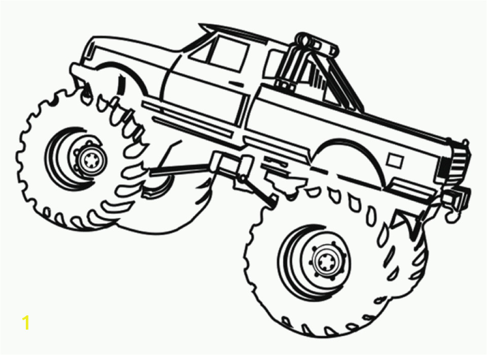 printable monster truck coloring pages