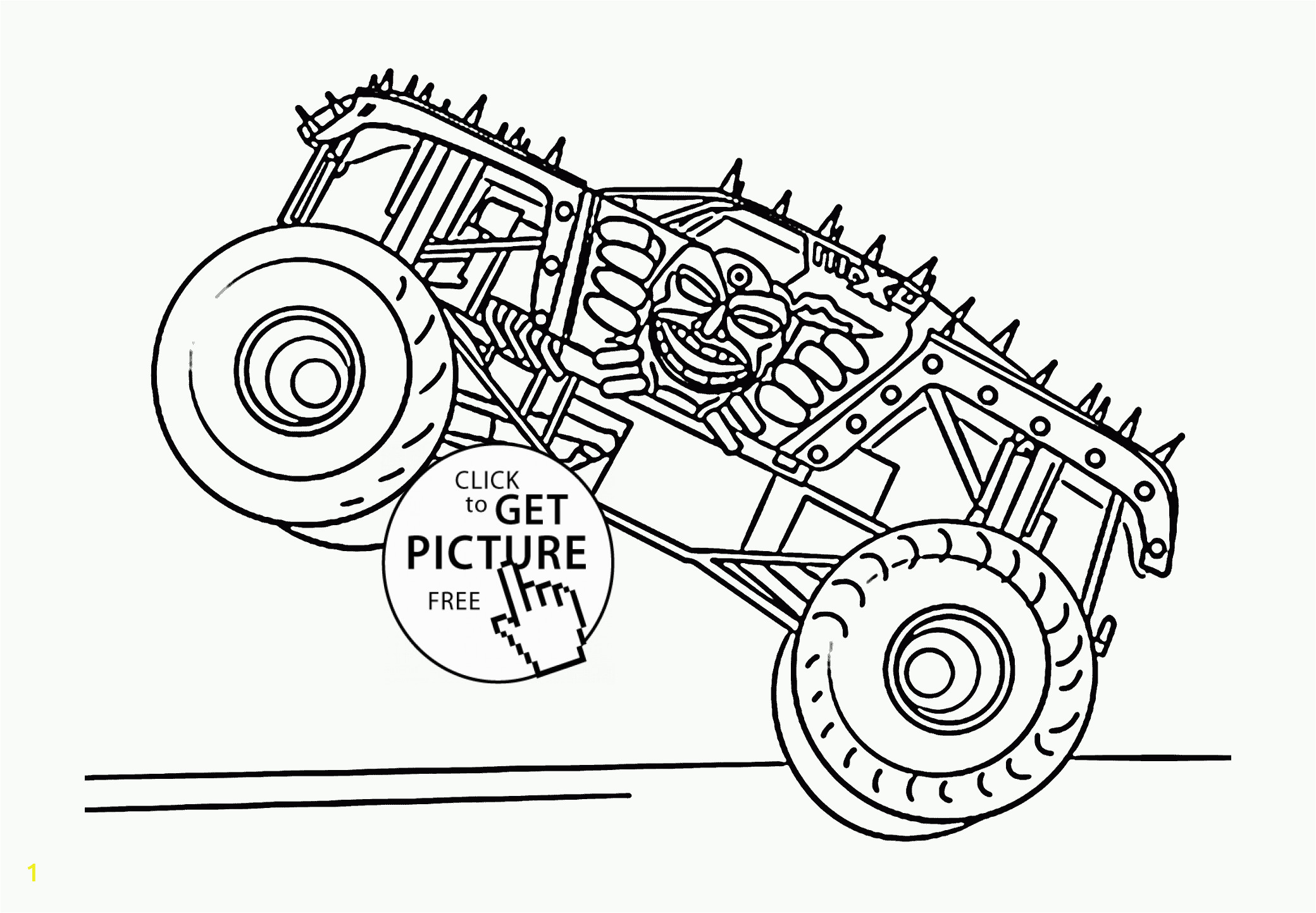 monster truck max d coloring page for kids transportation coloring pages printables free