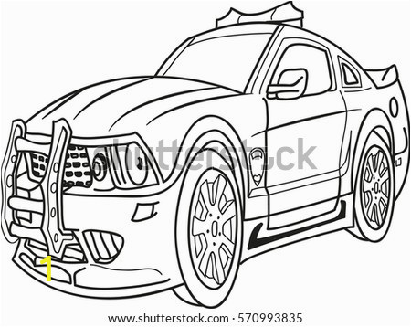 cartoon contour illustration monster truck police