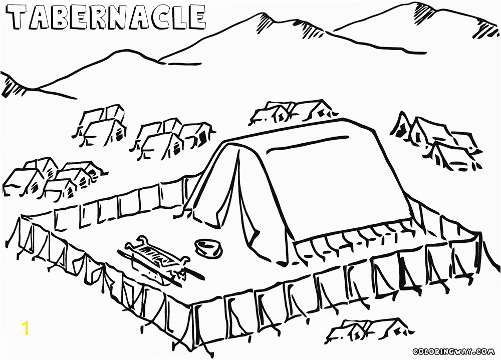 tabernacle coloring pages