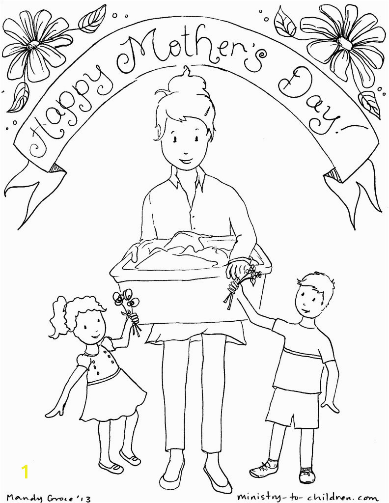 Mothers Day Coloring Page for Sunday School Sunday School Lessons for Mother S Day Sunday School Works