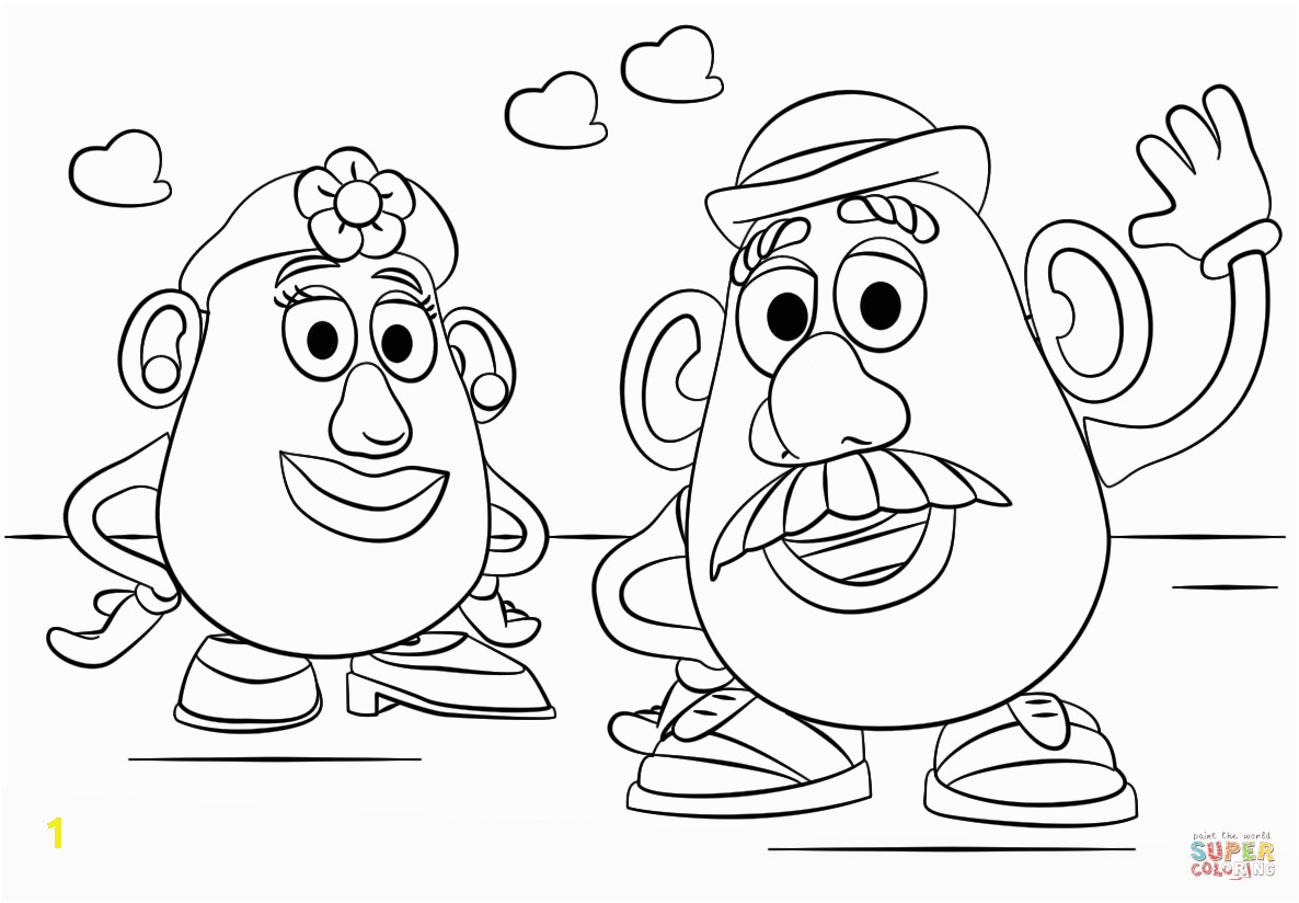 Mr and Mrs Potato Head Coloring Pages Mr Potato Head Coloring Page Coloring Home