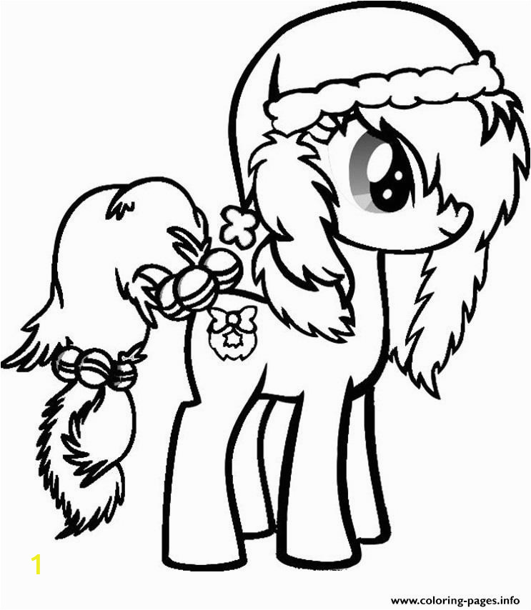 my little pony christmas printable coloring pages book