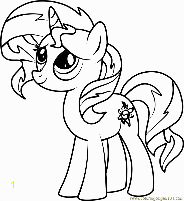 sunset shimmer pony coloring page