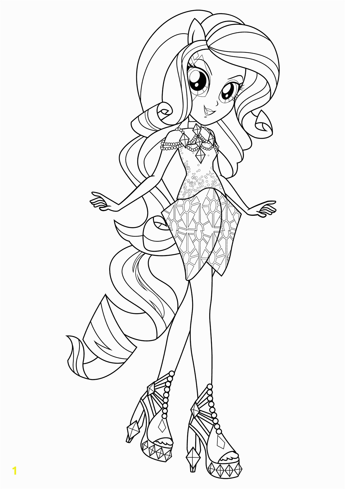 equestria girls coloring pages
