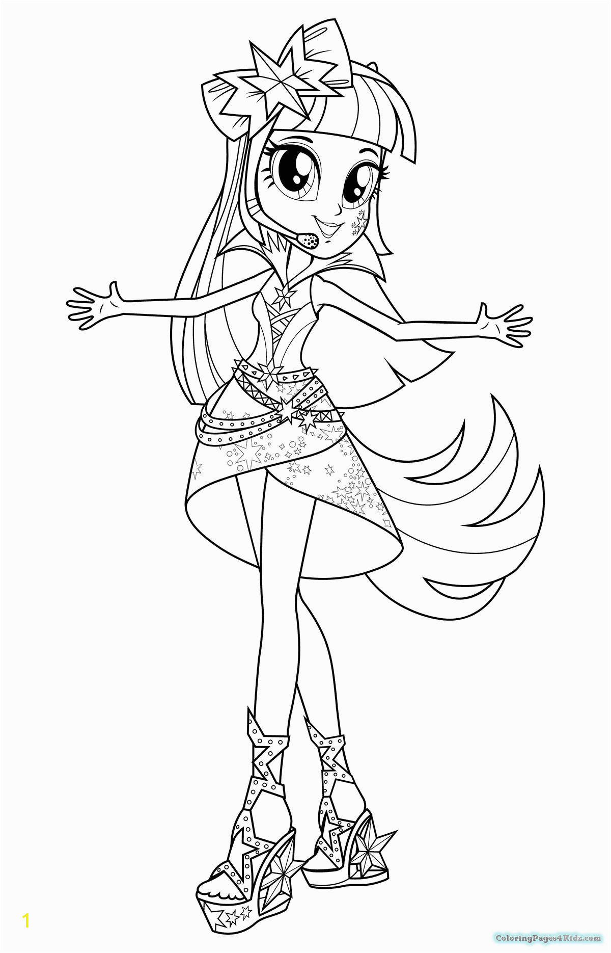 equestria girls christmas coloring pages