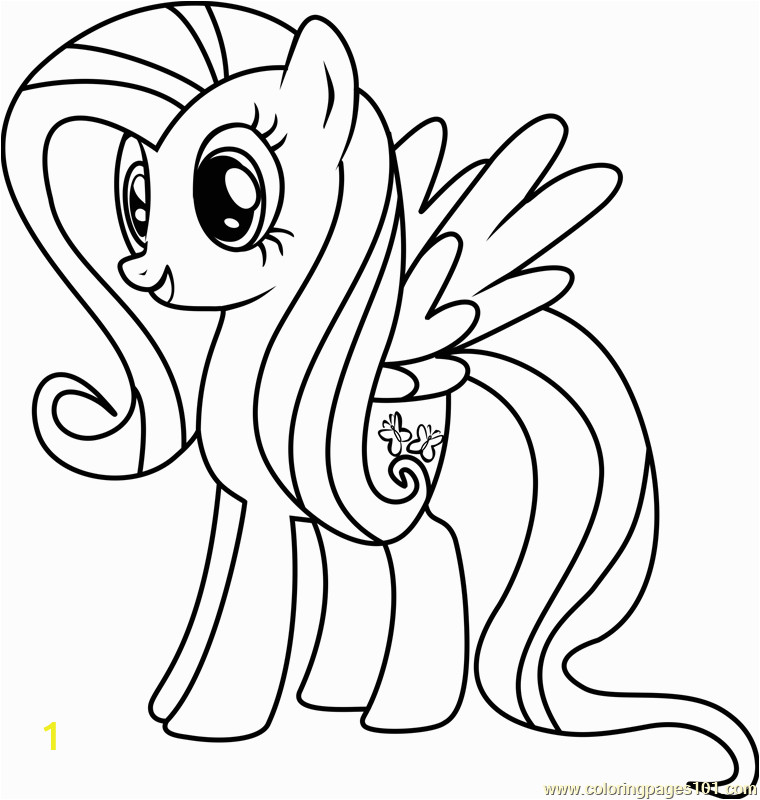 fluttershy coloring page