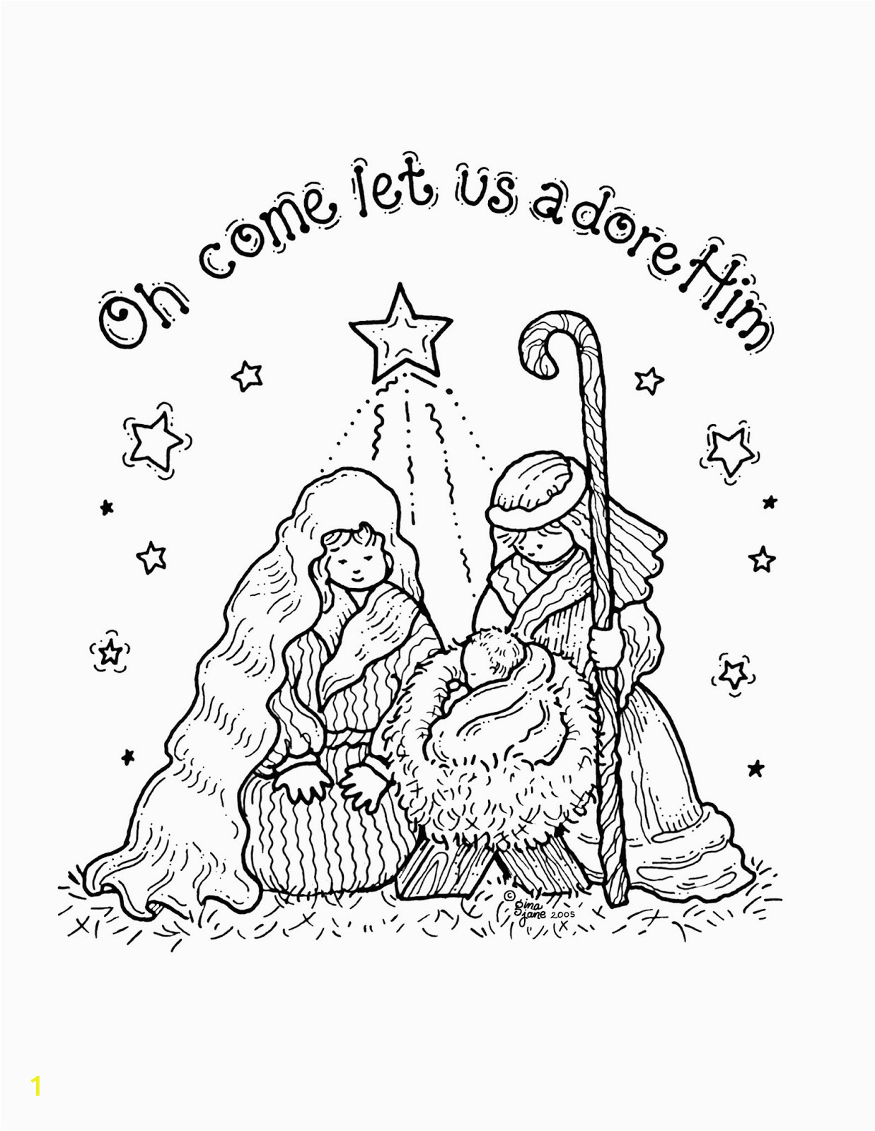 free printable nativity coloring pages kids