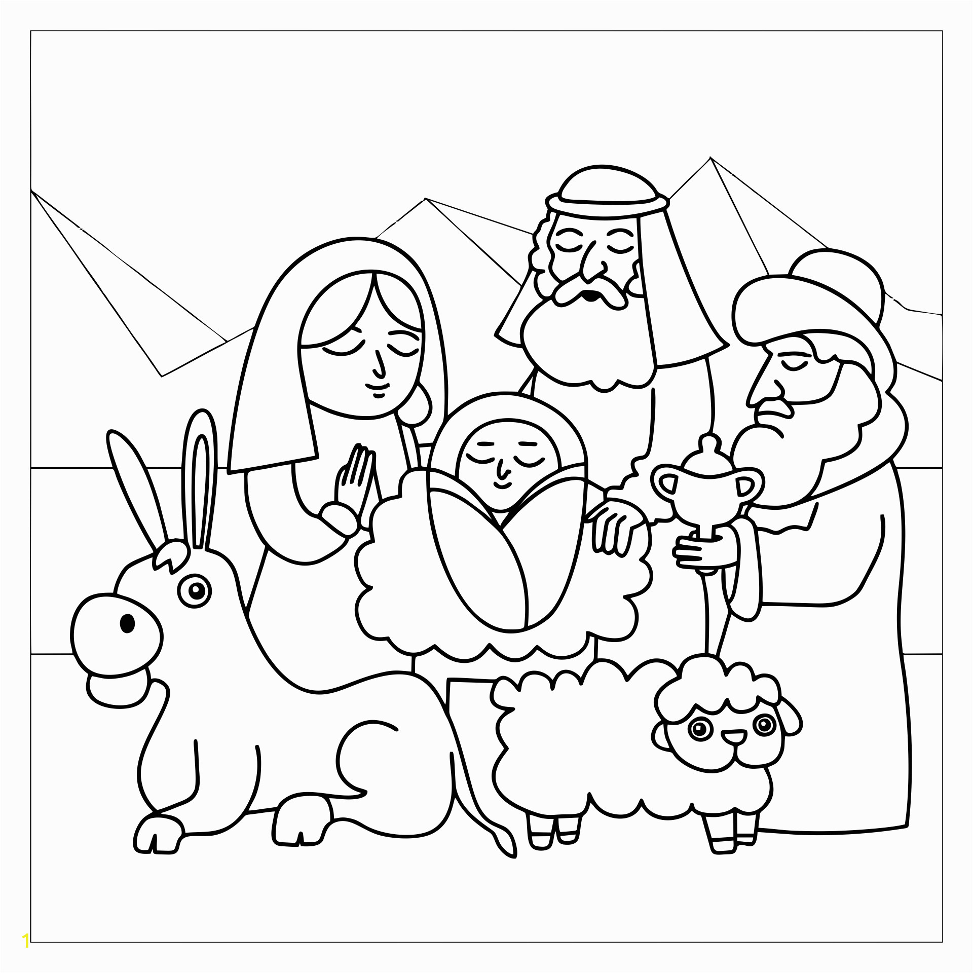 nativity characters coloring activities sketch templates