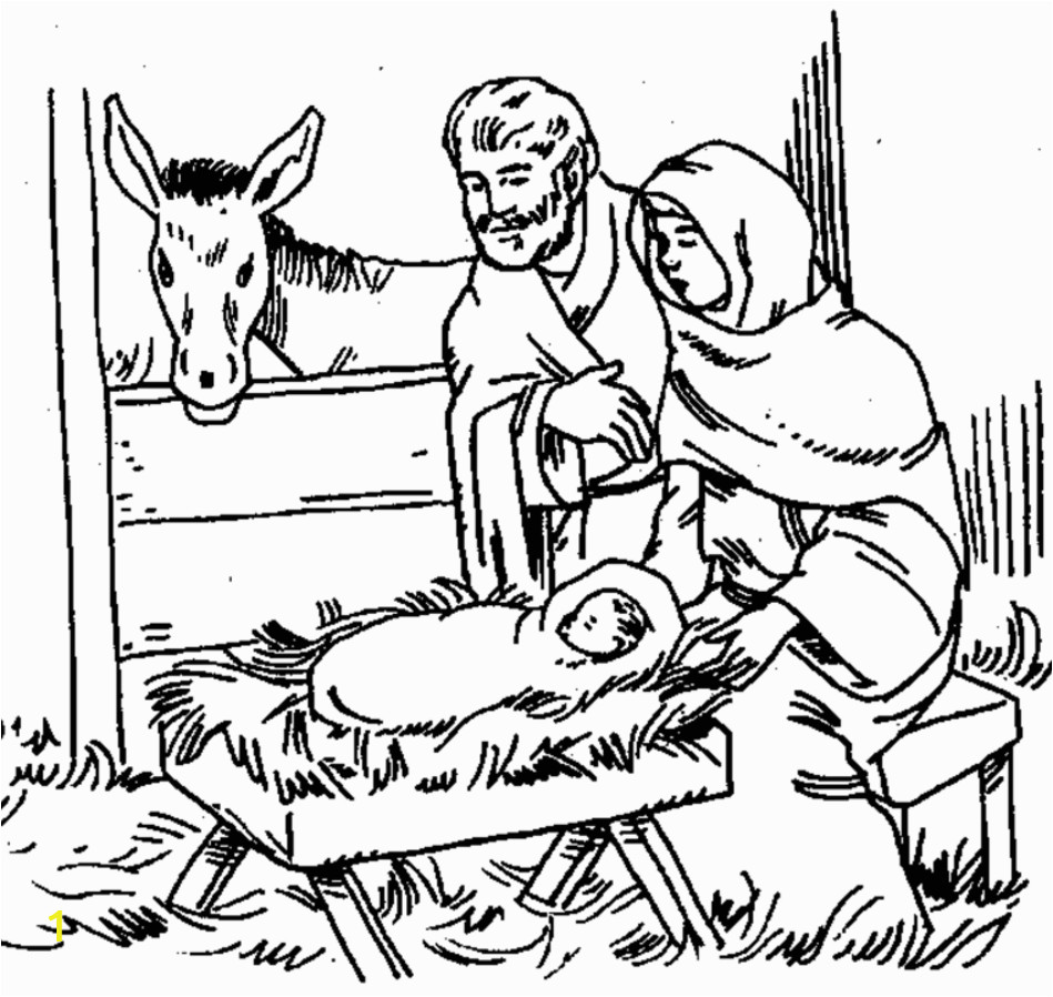 printable nativity stable template