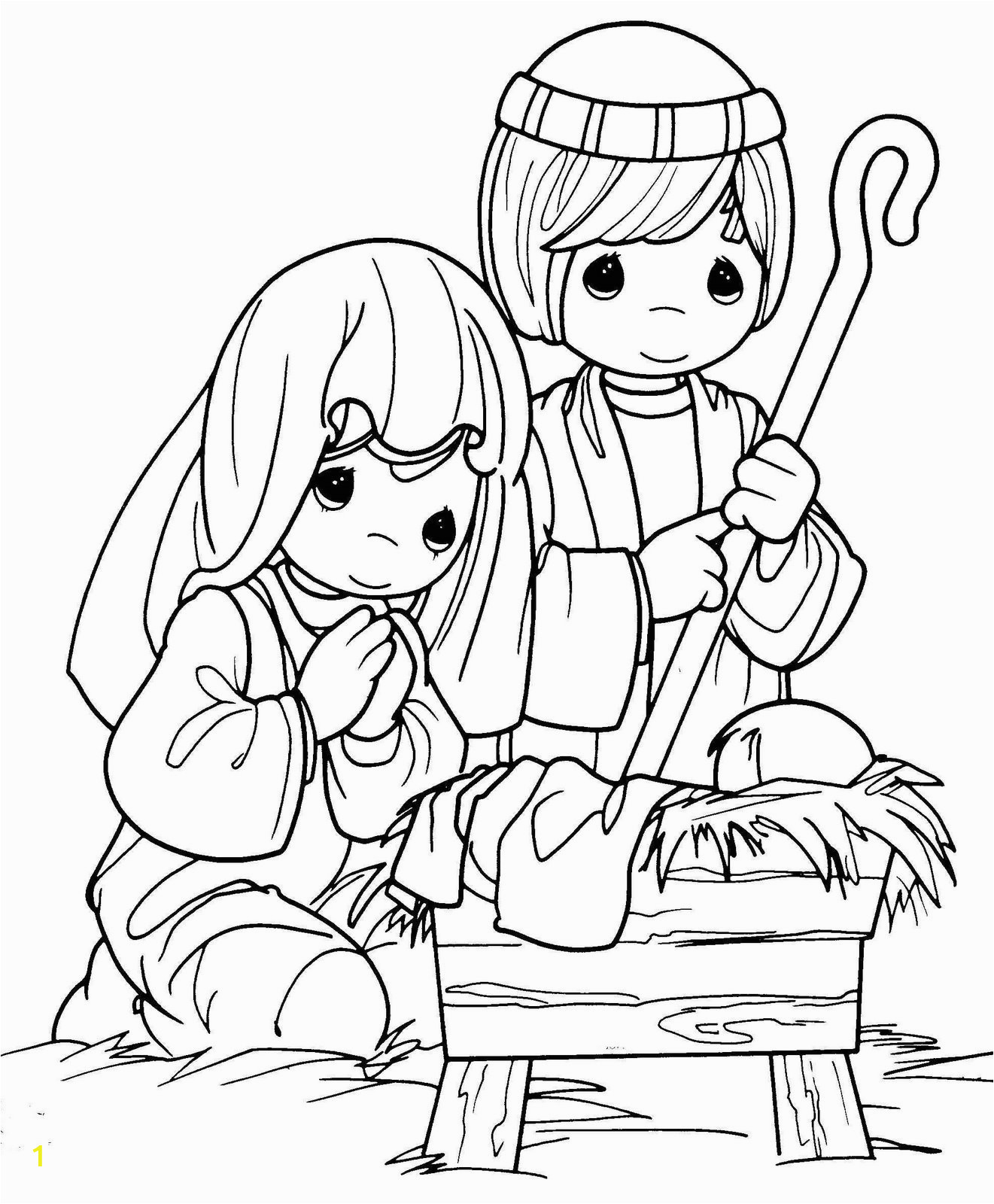 xmas coloring baby jesus nativity