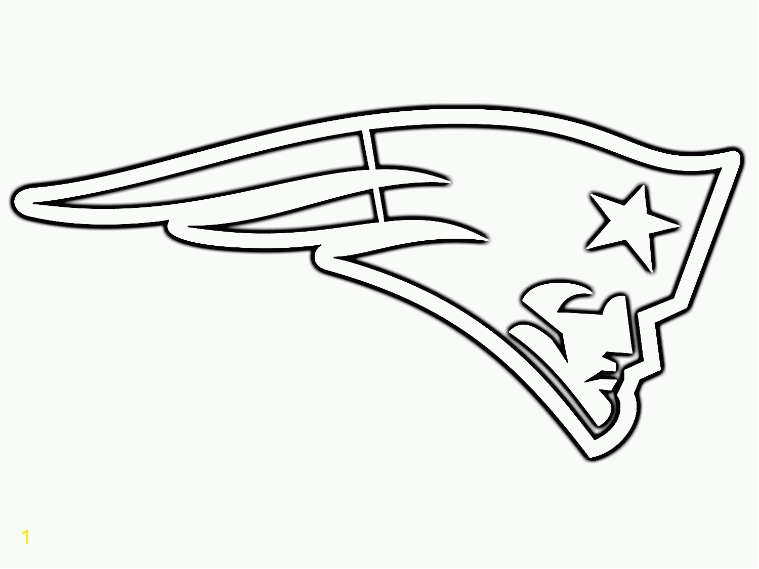 new england patriots logo coloring pages