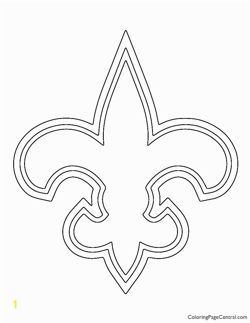 New orleans Saints Logo Coloring Pages Nfl New orleans Saints Coloring Page