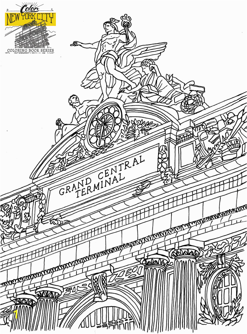 New York City Coloring Pages for Kids Gotham City Coloring Pages