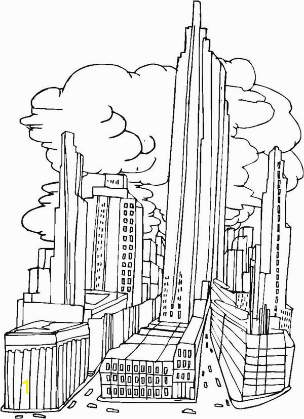 new york city picture coloring page