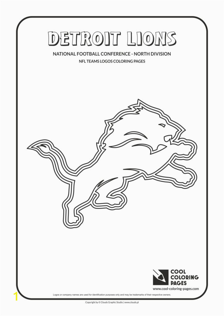 detroit lions nfl american football teams logos coloring pages