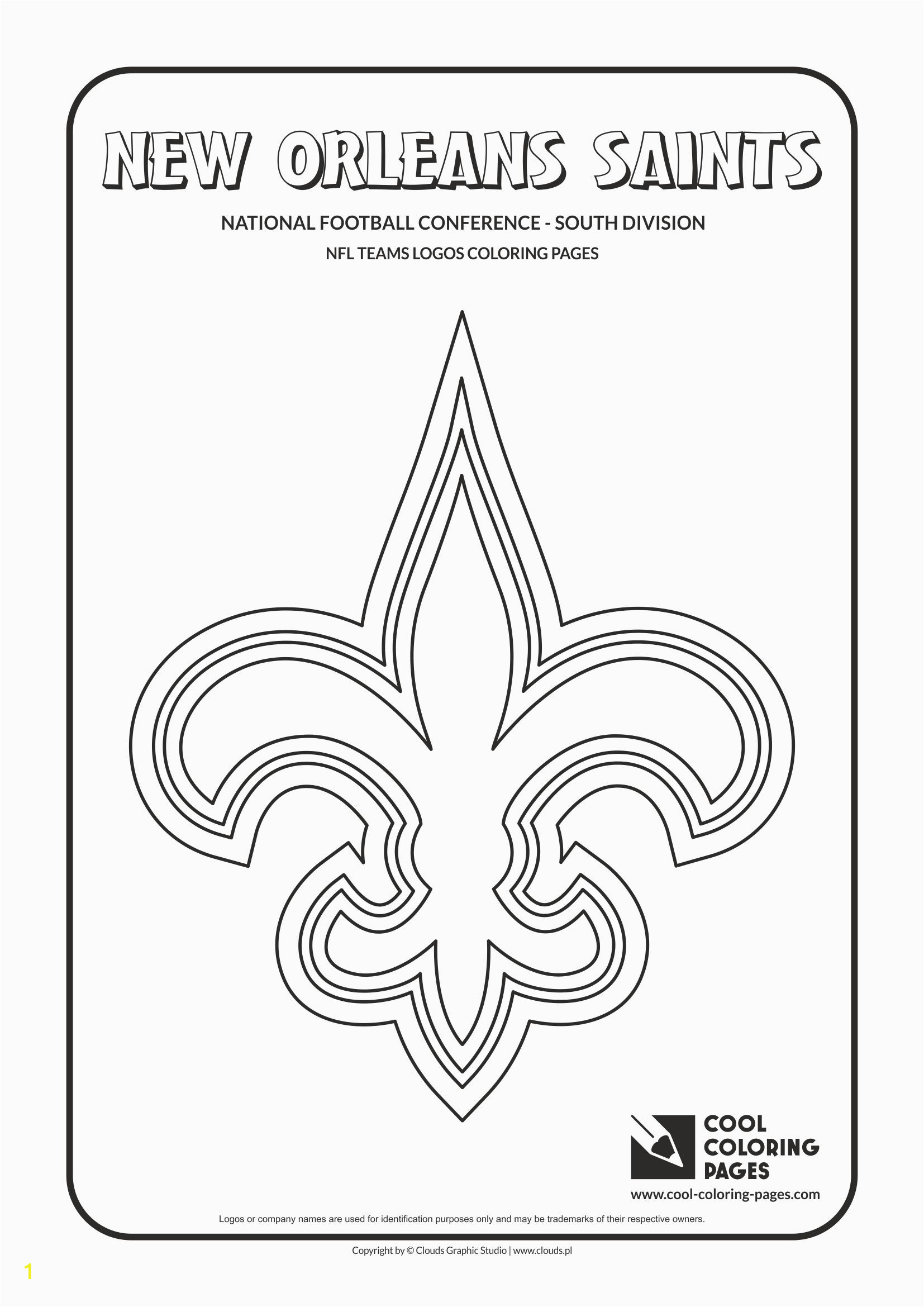 new orleans saints nfl american football teams logos coloring pages