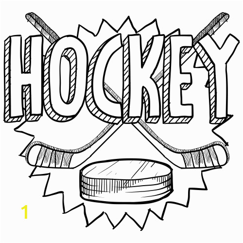 nhl hockey coloring pages
