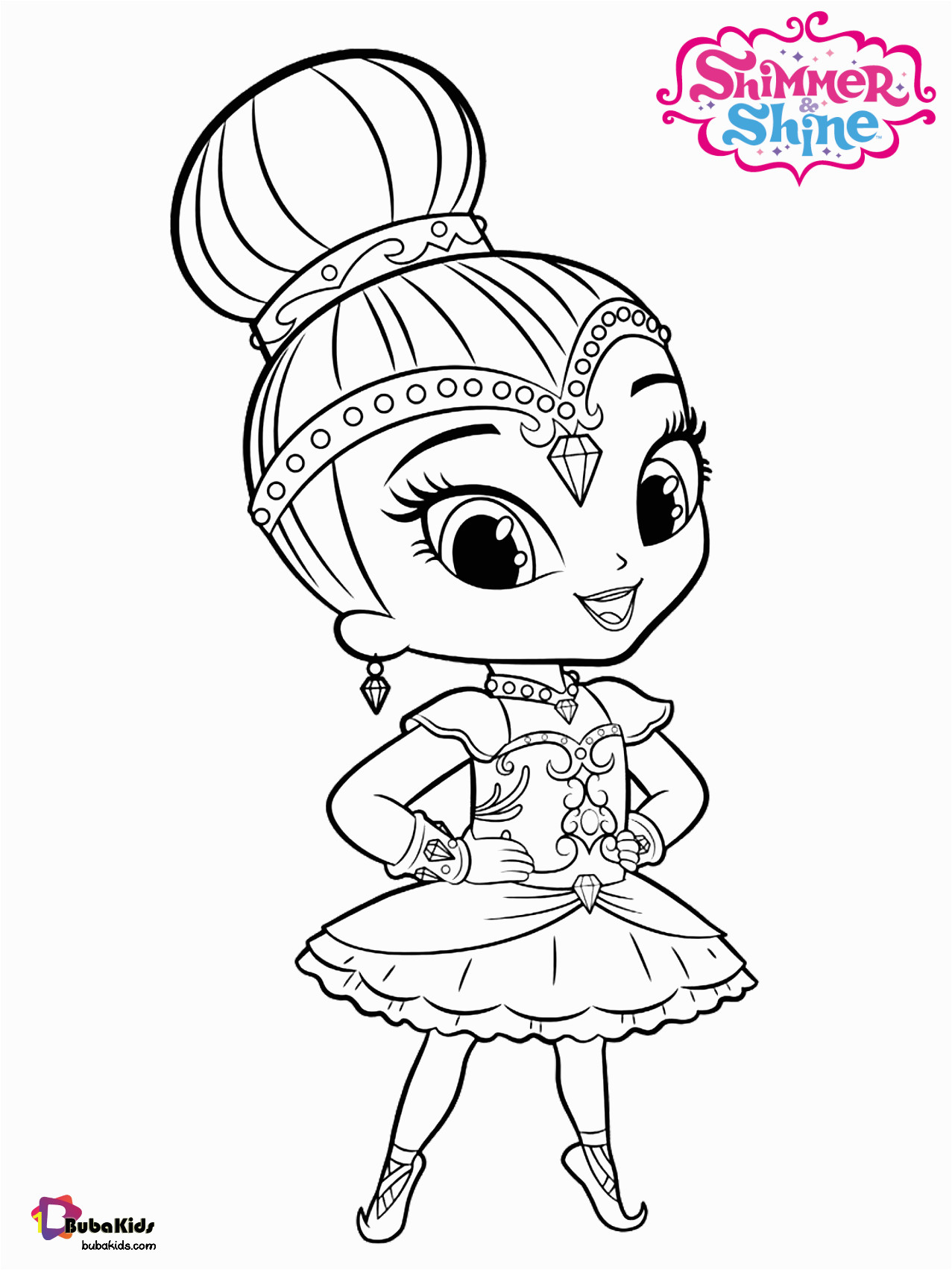 Nick Jr Shimmer and Shine Coloring Pages Free to Print Nick Jr Shimmer and Shine Coloring