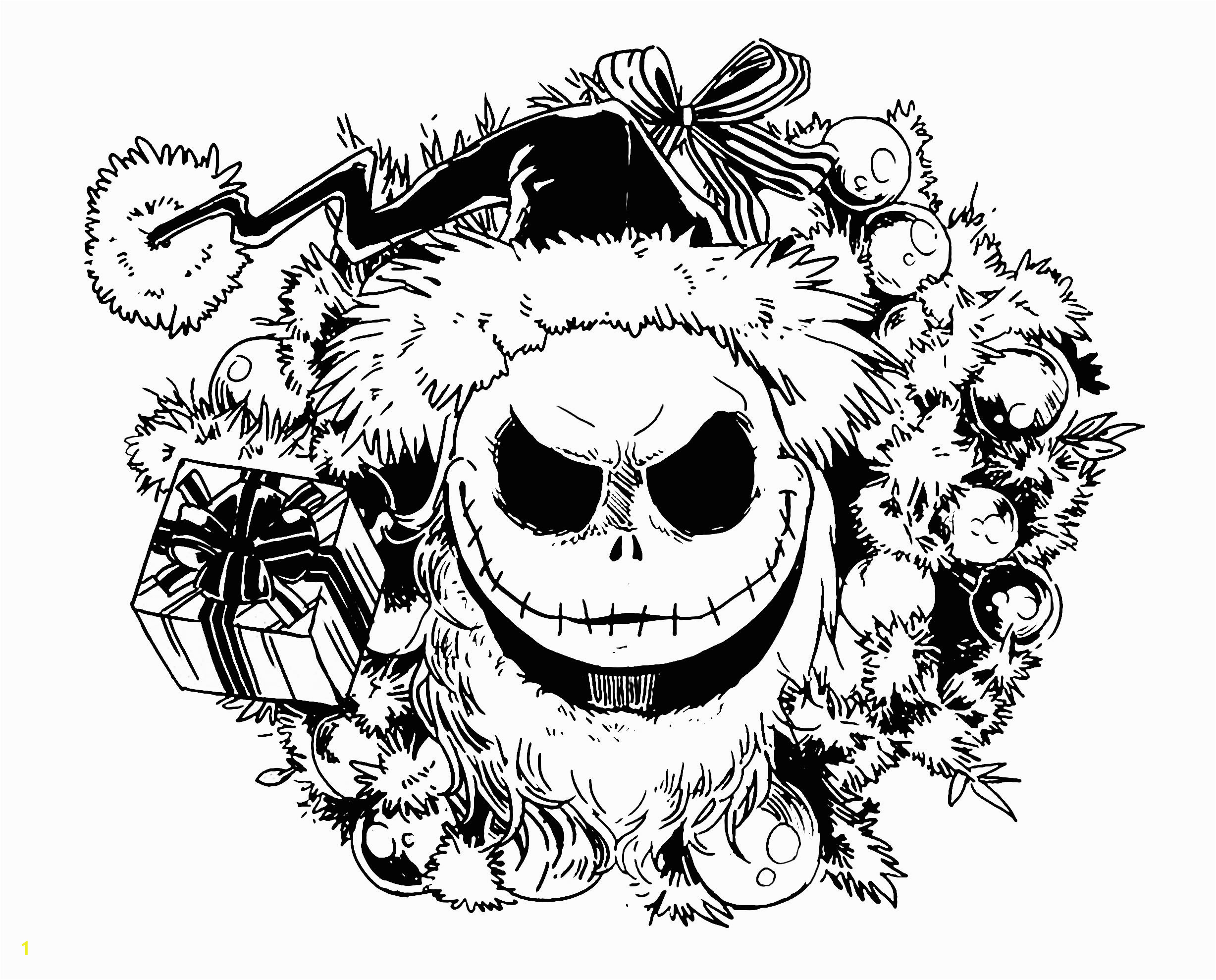 Nightmare before Christmas Adult Coloring Pages Nighmare before Christmas Christmas Adult Coloring Pages