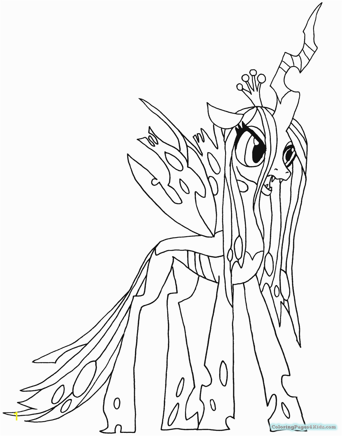 my little pony nightmare moon coloring pages 1030