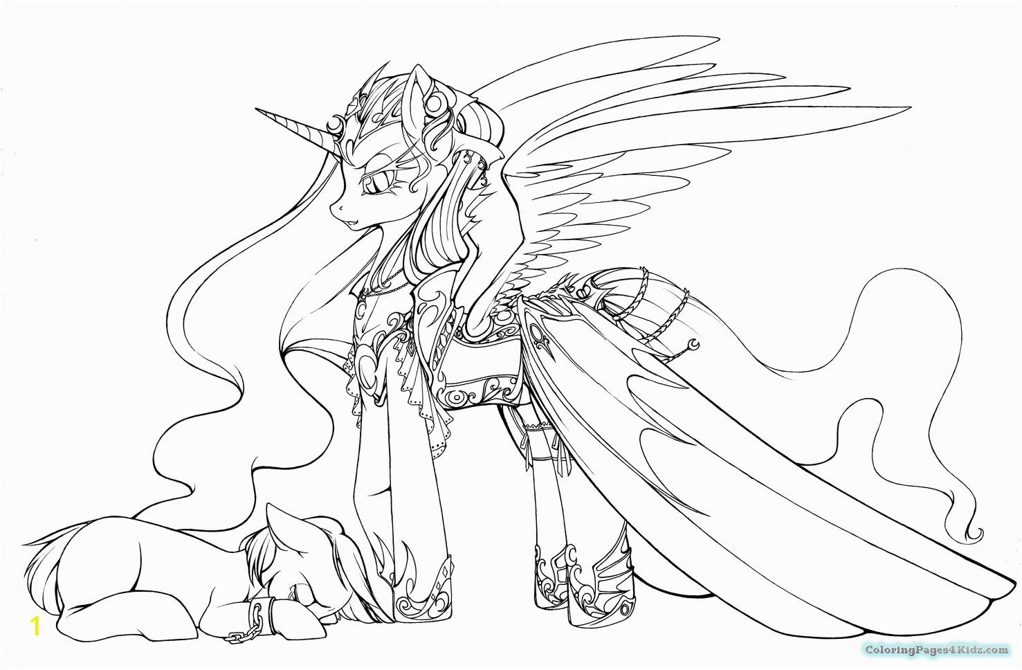 my little pony nightmare moon coloring pages 1031