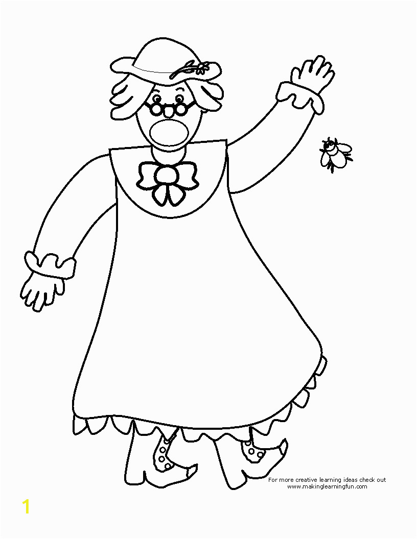 there was an old lady who swallowed a fly coloring page