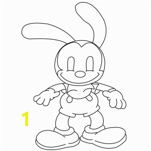 oswald the lucky rabbit sketch templates